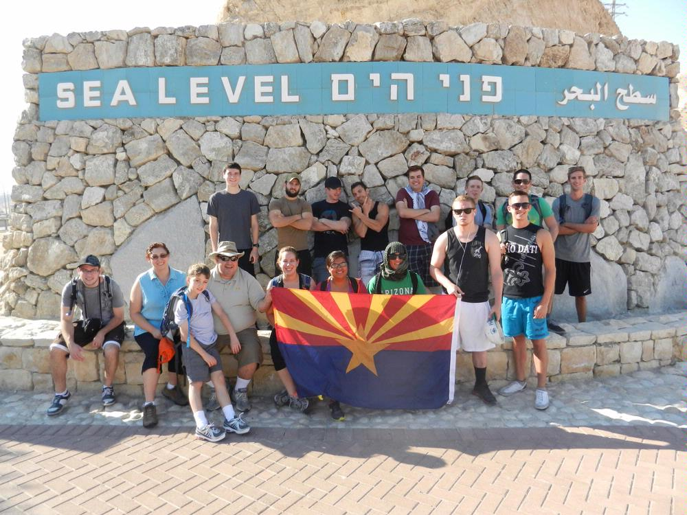 students at Dead sea