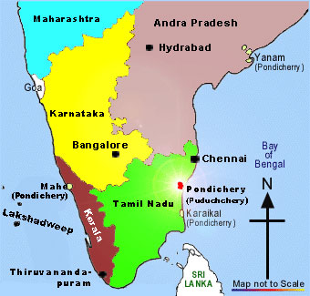 Chennai on map