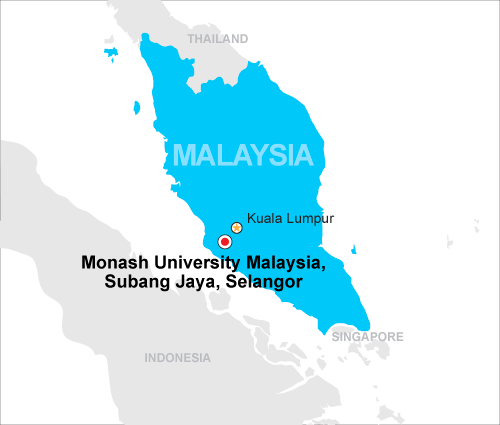 Monash - Malaysia map - PTC Education Consultants