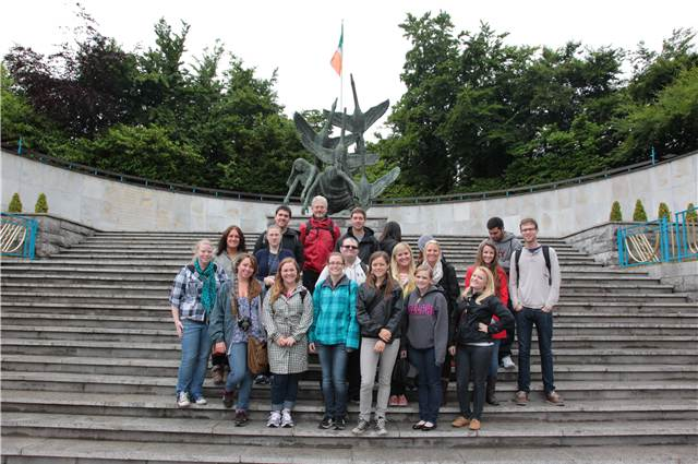 USAC - Galway field study group at the Garden of Rememberance