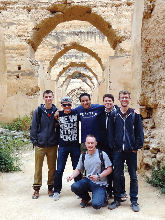 ISA Morocco students on tour