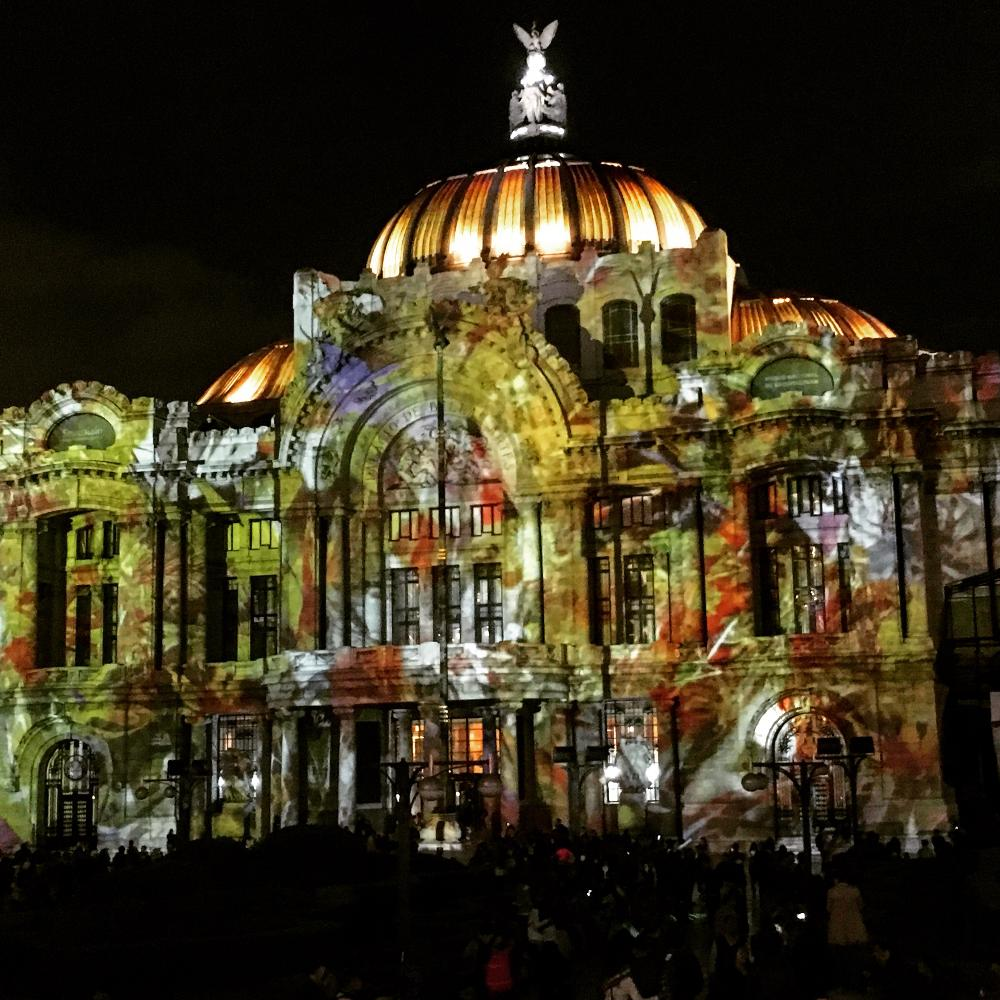 Night Palacio de Bellas Artes