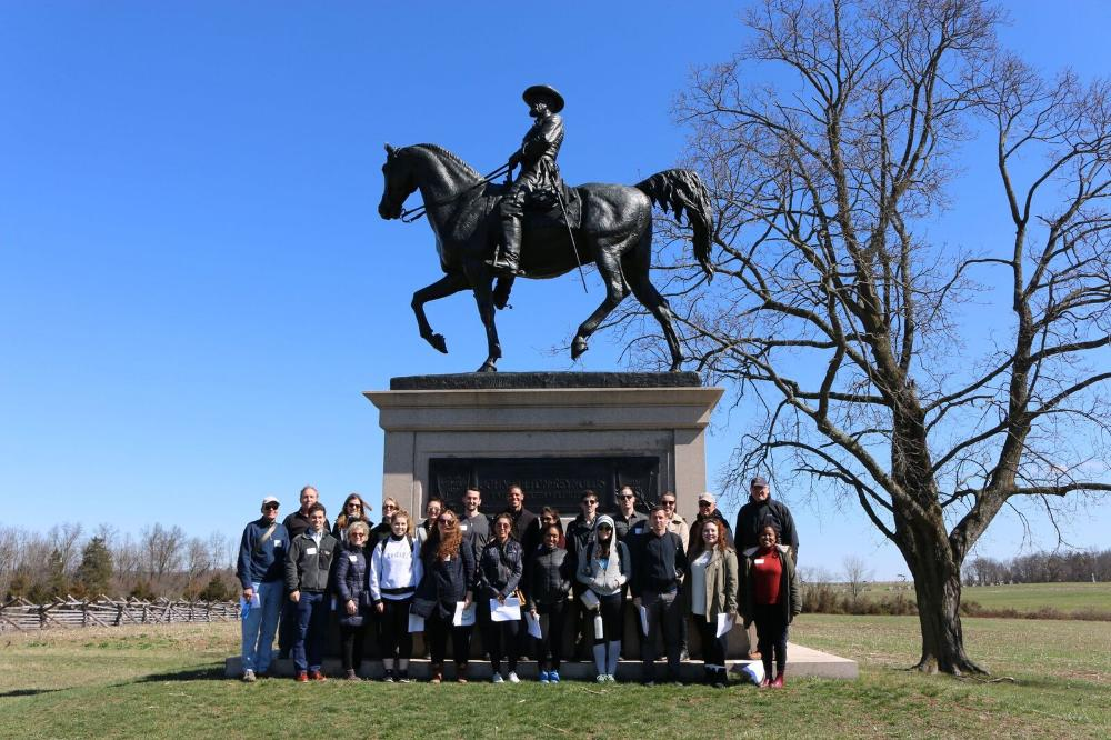 Group in front of Monument