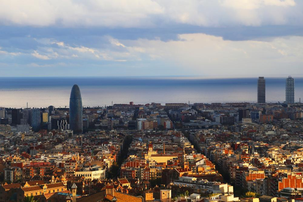 Barcelona - View to Ocean