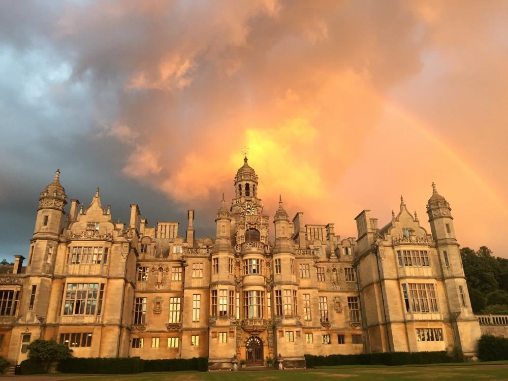 Harlaxton Manor at Dusk