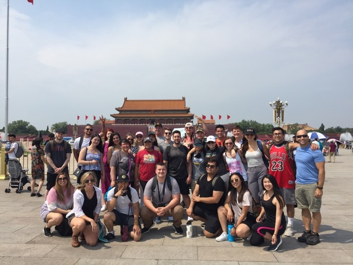 Group in Tiananen Square