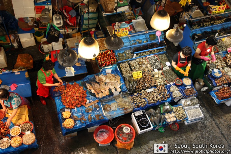 Korea fish market in Seoul